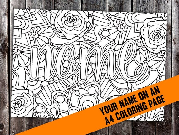 Custom Coloring Page From Your Name Cbl00n Printable A4 Customized Coloring Pages