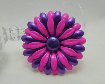 Pink And Purple Flower Pin