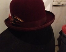 Capas Men's Wool Classic Derby/Bowler Hat Made