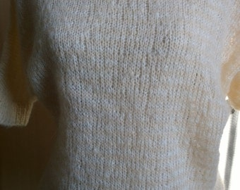 light mohair sweater size small 38