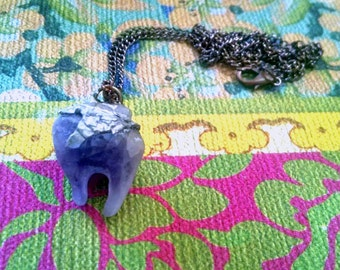 Amethyst Earth Tooth Necklace