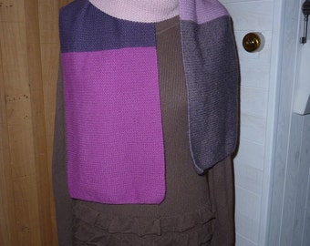 scarf wool knit point foam made hand / hand knitted scarf