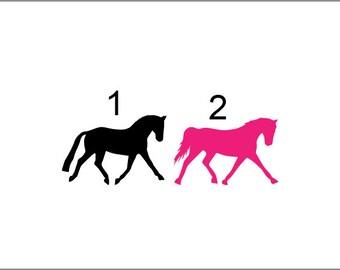 Dressage Horse Vinyl Decal, pick your design, vinyl decal, car decal, yeti decal, equestrian decal, eventing horse, sport horse decal
