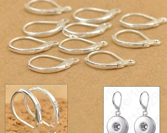 2pcs (1pair) .925 Sterling Silver LEVERBACK Earring Findings.