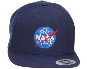 NASA Insignia Embroidered Snapback Cap