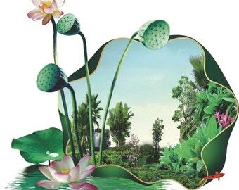 Blooming lotus pond (荷塘碧色)
