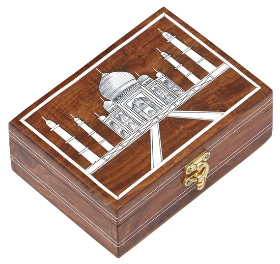 Decorative Wooden Jewelry Boxes : Items similar to wooden jewelry box free delivery
