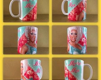personalised mug cup gift present rupaul ru pauls drag race queen shantay sissy that walk