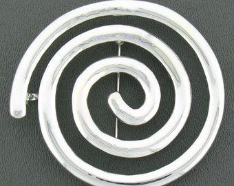 Pewter Celtic Knowth Spiral Pin/Pendant (#JPEW5998)