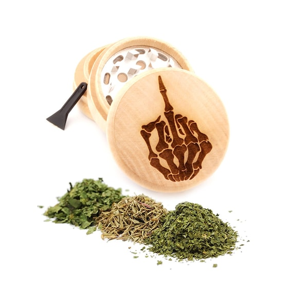 Hand Bone Engraved Premium Natural Wooden Grinder Item # PW91316-29