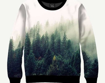 Foggy Forest - Men's Women's Sweatshirt | Sweater - XS, S, M, L, XL, 2XL, 3XL, 4XL, 5XL