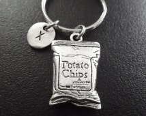 Potato chips keyring, keychain, bag charm, purse charm, monogram personalized custom gifts, item No.842