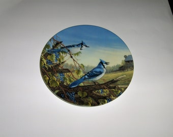 Blue Jays in Early Fall Knowles Collector China Plate