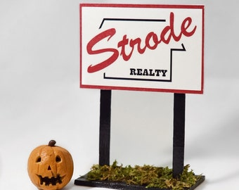 Halloween Michael Myers - Strode Realty Sign