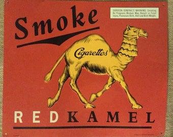 Collectable Red Kamel Cigarette Display Sign