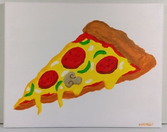 Pizza canvas painting