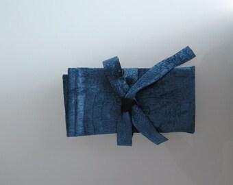 Blue Crocodile Velvet Napkins/Handmade Napkins/2 Pack Napkins