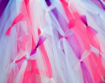 Ready To Ship !!! Ships in 1-2 days...Beautiful tutu with purples and pinks..AND lots and lots of bows