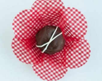 1 Dozen Truffle Wrappers  for holding chocolate truffles, cake balls, cake pops, brownie balls, favor boxes, any party bite size dessert