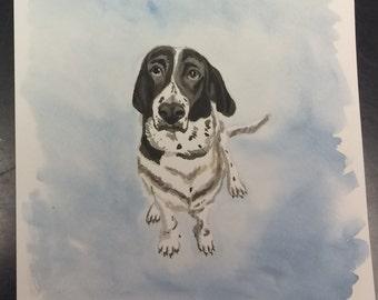 Custom 5x7-inch Pet Watercolor