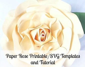 Large paper rose template giant paper flower printable large paper flowers giant paper flowers printable rose template paper flowers rose pronofoot35fo Image collections