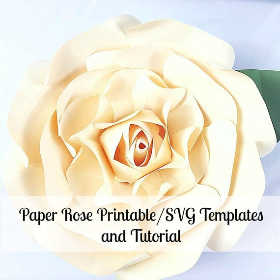 Large paper flowers giant paper flowers printable rose template il570xn maxwellsz