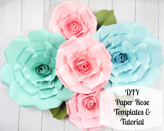 Giant paper roses large paper flower roses rose templates il570xn mightylinksfo