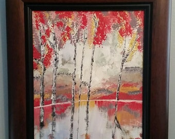 Birch trees 16x20