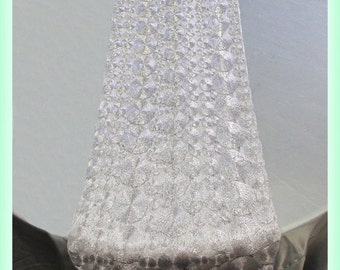 """3 Pcs. 17"""" X 108"""" Lace Vortex Table Runner Wedding Party Decorations Silver"""