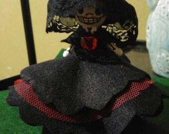 La Catrina Clothespin doll