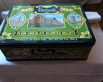 Vintage Herrod London cookie tin