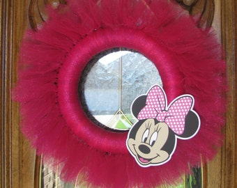 Minnie Mouse themed Tulle Wreath