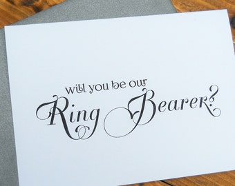 Will You Be Our RING BEARER Card, Ring Bearer Card, Ask Ring Bearer Card, Ring Bearer Gift, Ring Bearer Proposal, Be Our Ring Bearer