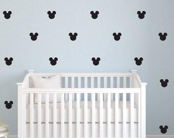 Mickey Mouse decal, Mickey Mouse decor, Mickey Mouse die cut, Mickey Mouse decorations, Mickey Mouse wall art, pattern decal, D00232