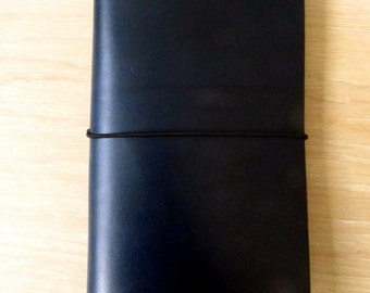Navy Leather Journal Cover, Leather Cover, Midori Cover, Moleskine Cover, Travelers Notebook Cover, Passport, A5 Cover
