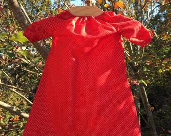 Red long sleeve peasant dress