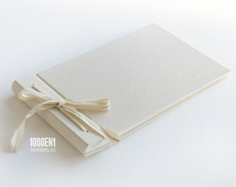 Small custom photo album natural linen, wedding album, guest book, parents album, newborn album