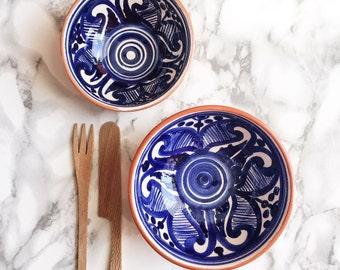 Blue and White Colheita Bowls - Set of 2