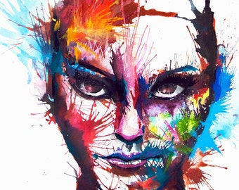 FEARLESS -  Signed & mounted giclee print