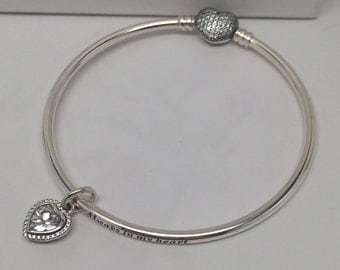 Pandora Always in My Heart CZ Limited Edition Bangle Gift Set