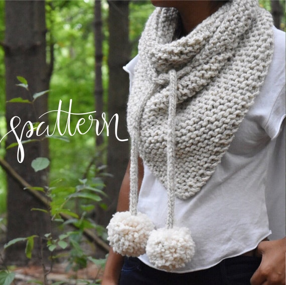 Free Knitting Patterns For Beginners Baby Blanket : Items similar to Knitting Pattern Kester Bandana Scarf Knitting Scarf Pat...