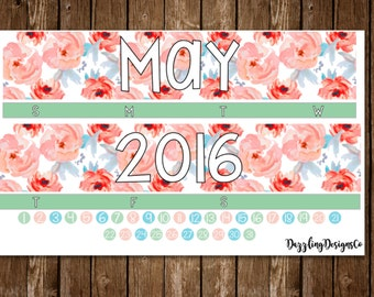 Monthly Kit for use with Erin Condren LifePlanner- May