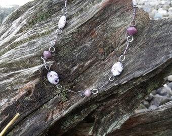 Stylish Grape Purple Necklace