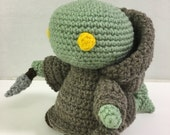 Crochet Tonberry Amigurumi, Final Fantasy, guardian force, monster, chef's knife, grudge featured image