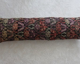 "RARE Turkish kilim pillow, lumbar pillow cover 12x42 bedding pillow,vintage kilim lumbar pillow cover 12""x42""kilim pillow,rectangle pillow 8"