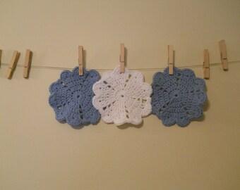Heart cotton dishcloths