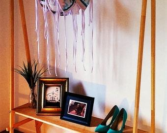 Unique Wooden Clothes Rack