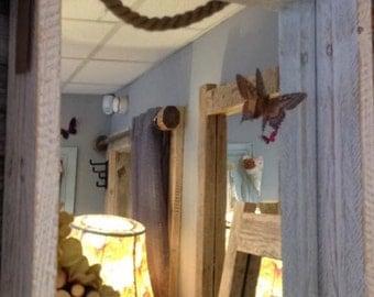 Handmade Wooden mirror- Indoor - Outdoor
