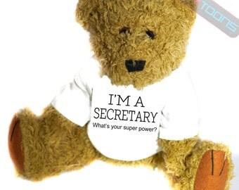 Secretary Novelty Gift Teddy Bear