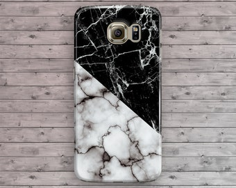 White Marble Galaxy S7 Case, Samsung Galaxy S6, Geometric Black Galaxy S7 Edge, Galaxy S6 Edge Plus, S3 S4 S5 Note 7 3 4 5 Cool Granite Gray
